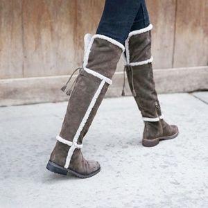 Frye 'Tamara' Genuine Shearling Over the Knee Boot